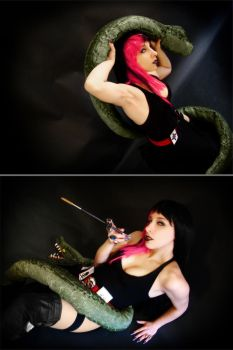 Gothica vs Snake cosplay by Bastet-sama
