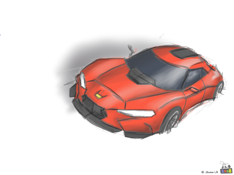 Car Sketching MediBang Paint Test by SammfeatBlueheart