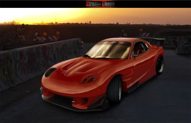 fd3s red rx7 by carl-designer