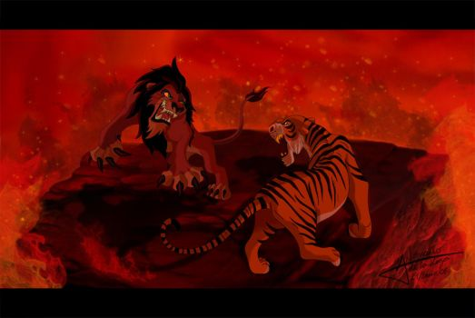 Scar VS Shere Khan by Grincha