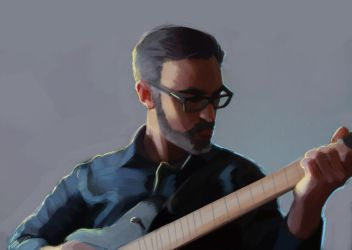 Id 2017 - selfportrait with guitar by EvilPNMI