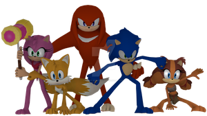 Team Sonic (Without Shoes and Gloves) by Korey-SonicFan22