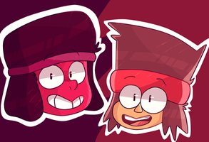 Ruby and K.O. by ZaneNidroin
