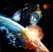 Tardis in space by WormholePaintings