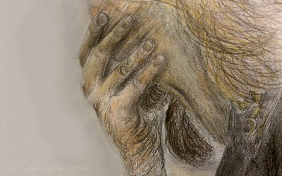 Crying Theoden by Mona-Hliza