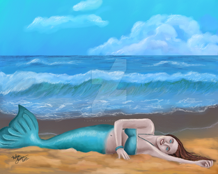 Warm on the Sand by Little-Orca