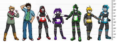 Dream Team Height Chart by WeavileShonee