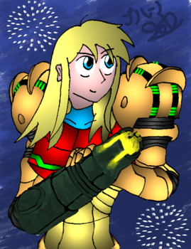 Samus Aran by Burn-taichou