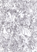 Old Art - Pokemon Paper Cluster