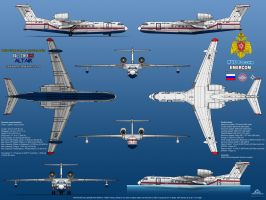 Beriev Be-200ES Altair - EMERCOM by haryopanji