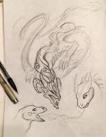 126- Dragon Sketches by Lucky978