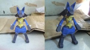 Lucario Papercraft by ShiroiKoumori