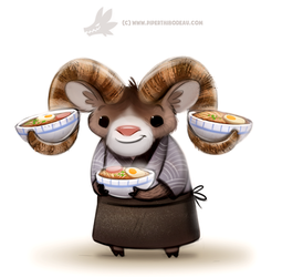 Daily Paint 1289. Ram-en Chef by Cryptid-Creations