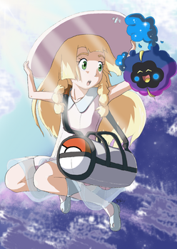 Lillie and Nebby by kokorotoyume