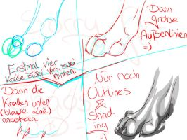 How I'm drawing paws :3 by LittleDespair