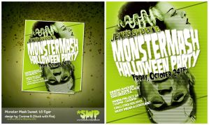 MonsterMash Sweet 16 flyer by stuckwithpins