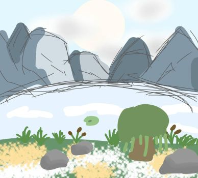 Backgrounds: Mountains (1) by TaintedVenom