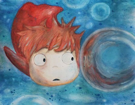 Ponyo Watercolors by shahuskies