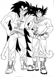 Earthling clothes Turles and Raditz by Skull-Splinters