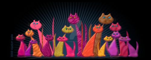 Vector Cats 2016 10th aniversary edition v3 by penngregory