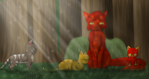 Lilykit's family by AnArtisticArtist
