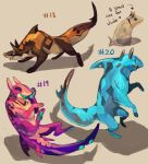 [closed] Adoptables 18 - 20 [AUCTION] by HJeojeo