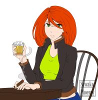 X-Men/Kigo: Drinking Alone (Coloured) by FFiamgoku