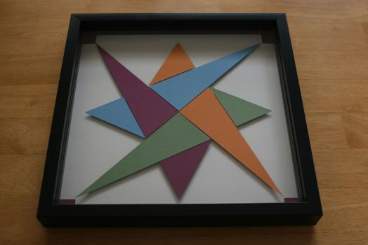 Quilt Block Shadowbox by valleyviolet