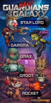 Baby Guardians of the Galaxy by IngvardtheTerrible