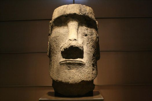The Louvre: Stone Head of Easter Island by c-r-4-f-t