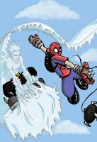 Spidey and Iceman by Gigatoast