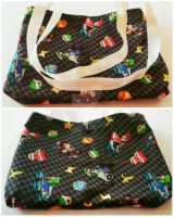 Mario Kart Small Tote bag by wolf-girl87