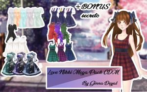 Pack Ropa Love Nikki Cdm+ BONUS - By Ginna Deyal - by GinnaDeyal