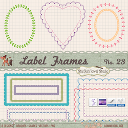 Ovals, Hearts Scalloped and Leaf Frame Borders by starsunflowerstudio