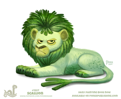 Daily Paint 1807# Scallion by Cryptid-Creations
