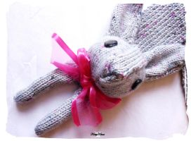 Vegan Grey Bunny Scarf by Cateaclysmic