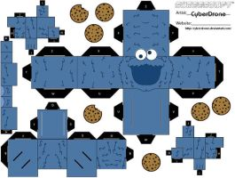 Cubee - Cookie Monster by CyberDrone