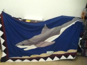 Wip Shark quilt topper. by SafyreWulfie