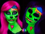 Black Light Pop Art Zombie (with Tutorial) by KatieAlves