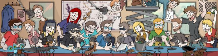 Rooster Teeth Podcast cast by Toonlancer