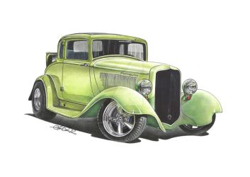1933 Plymouth Coupe by SIMPSONARTISTRY
