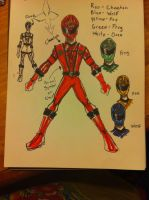 Rough ninja sentai sketch by buddyfrank