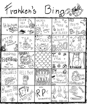 I did one of  these dumb little bingo sheets :V by Franken-Fish