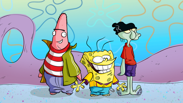 Spongebob as Ed, Edd 'n' Eddy by TonyCrynight
