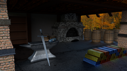 The Forge made in Blender by Redellex