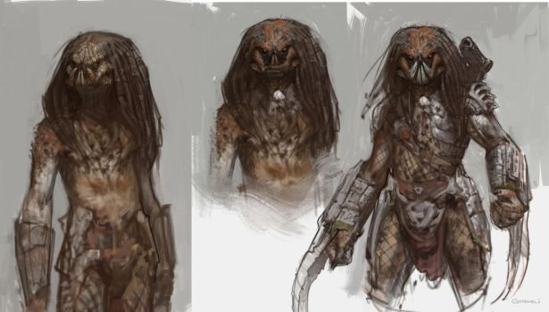 Predator sketches by vladgheneli