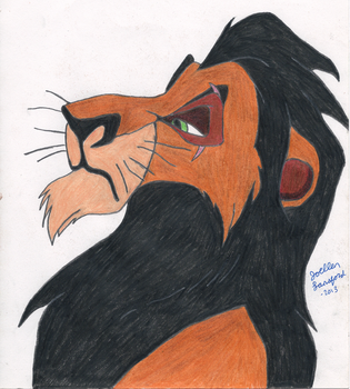 Scar Colored by jojomudkip