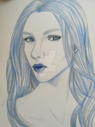 Blue girl by TheFacelessPainter
