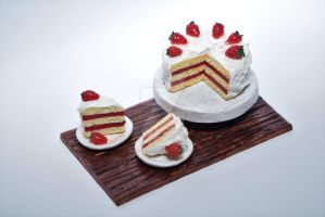 Strawberry Cake by lyssacrafts