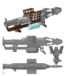3D work : Impact Crystal Launcher by vahki6
